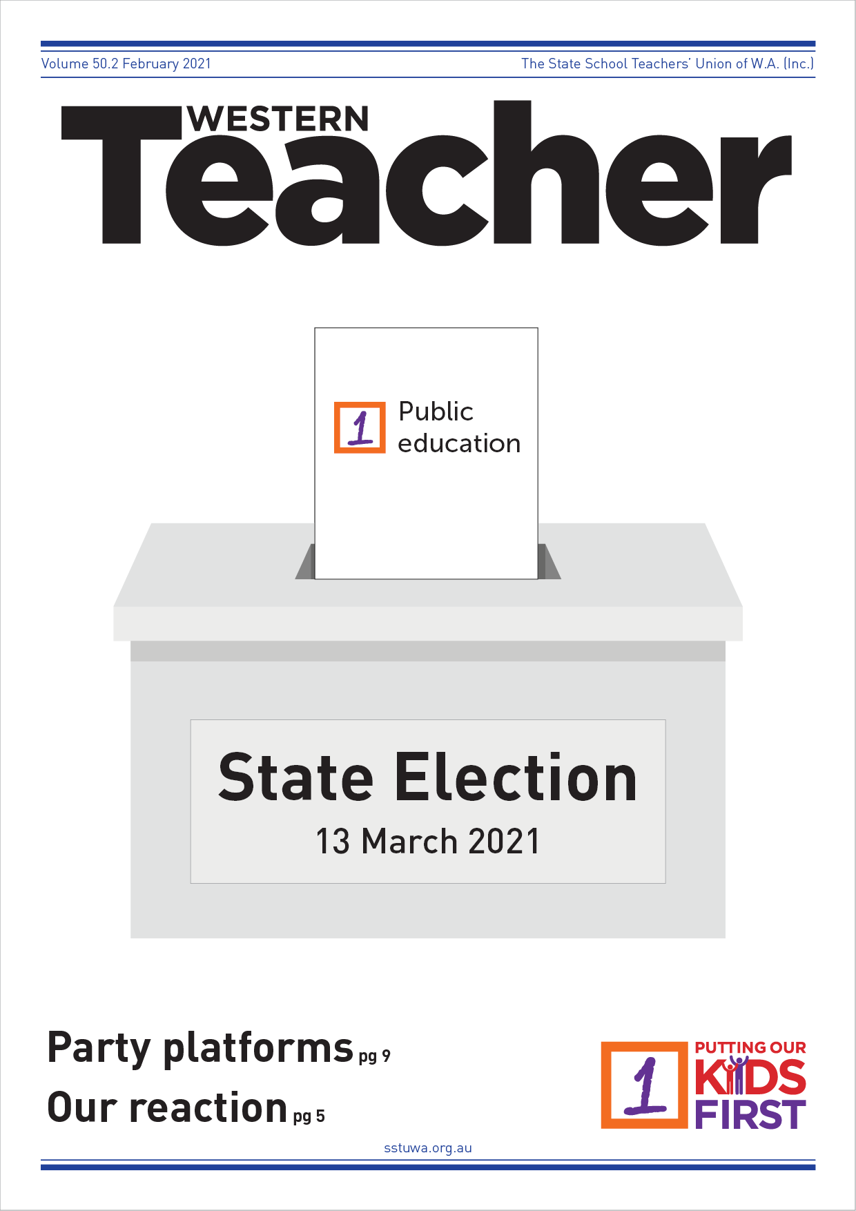 February 2021 - Western Teacher cover